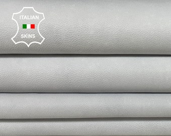 UNDYED chrome dye process unfinished gray ice white Italian Lambskin Lamb Sheep leather skin hide skins 7+sqf 0.9mm#A7442