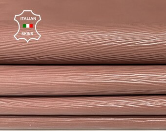EPI NUDE embossed textured Italian lambskin Lamb Sheep leather 2 skins hides total 11sqf 0.7mm #A7423