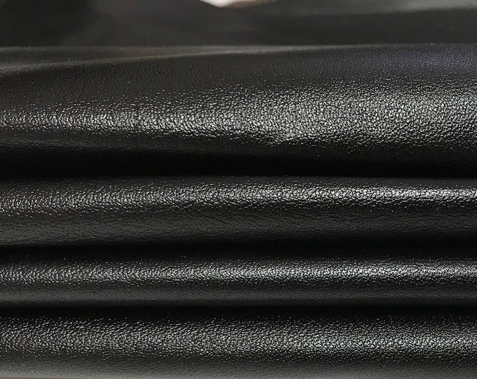 VERY DARK BROWN thin soft shiny  Goatskin Goat Italian leather skin skins hide hides 4sqf #A2943