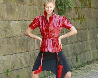 Made To Order Italian handmade Women genuine lamb lambskin leather jacket made in Italy custom customized order