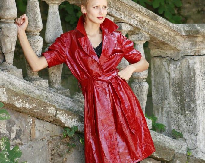 Made To Order Italian handmade Women genuine lamb lambskin leather trench coat made in Italy custom customized order