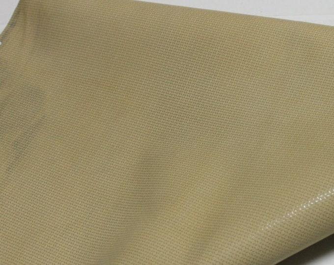 Italian Goatskin leather hides skins hide skin LAMé DEER TAN 2sqf  #7675