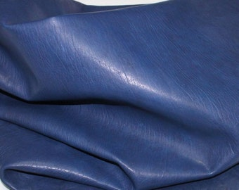 Italian Goatskin leather skins hides WASHED BLUE vegetable tanned 250sqf