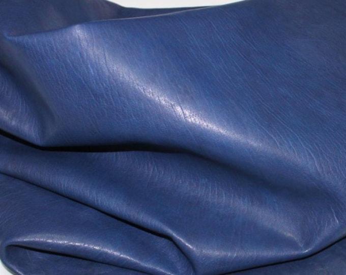 Italian Goatskin leather skins hides WASHED BLUE vegetable tanned 250sqf