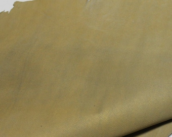 Italian strong Goatskin leather hides skins hide skin GOLD PRINTED DISTRESSED dirty look 3sqf  #7674