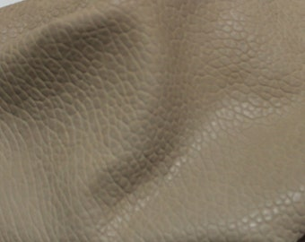 Italian thick vegetable tanned Lambskin leather hides skins hide skin grainy NATURAL DARK BEIGE 6sqf  #7953