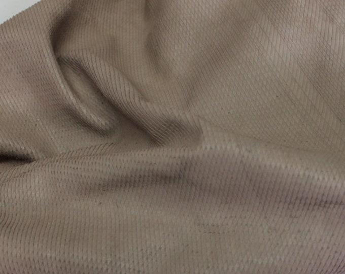 Italian Lambskin leather skin natural walnut brown vintage look snake tezture cut 5sqf #8868