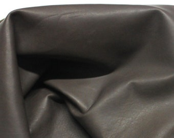 Italian soft Lambskin leather hide hides skin skins NATURAL BROWN  #10071  6+sqf