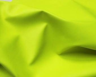 Italian Goatskin leather skins hides FLASHY NEON YELLOW 250sqf