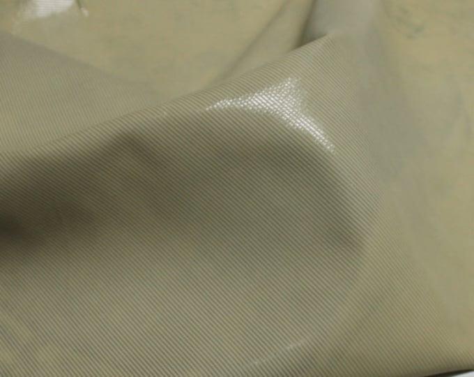Italian Goatskin leather hides skins hide skin IVORY DISTRESSED LINES textured  3sqf  #7709