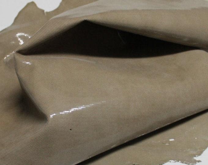 Italian Goatskin leather hides skins hide skin LAMé SAND BEIGE distressed 3sqf  #7705
