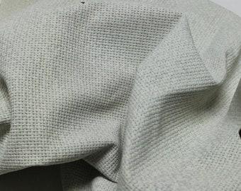 UNDYED Italian Lambskin leather hides skins hide skin vintage WOVEN GREYISH textured 6+sqf  #8148
