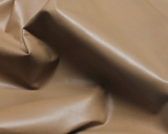Italian Goatskin leather hide hides skin skins beige brown CAFE AU LAIT 7sqf #A105