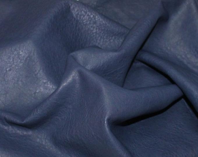 Italian genuine lambskin Lamb Sheep leather 12 skins hides WASHED BLUE natural grainy 80-90sqf