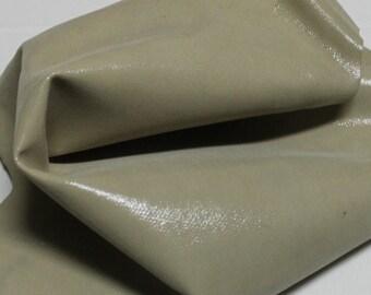 Italian  Goatskin leather hides skins hide skin LAMé BEIGE DISTRESSED 3sqf  #7660