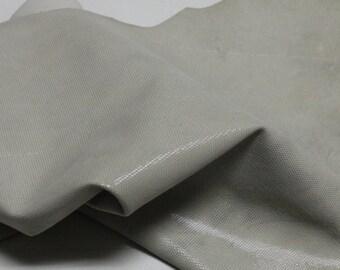 Italian  Goatskin leather hides skins hide skin LAMé LIGHT BEIGE  3sqf  #7661