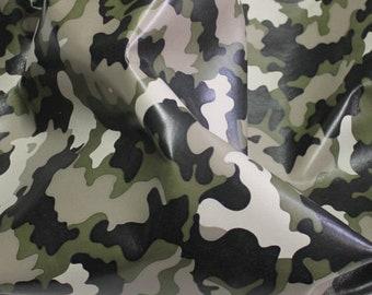 Italian lambskin lamb leather 12 skins hides Military ARMY CAMO PRINT 80-90sqf