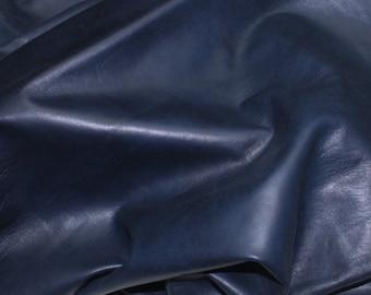 Italian Lambskin leather 12 skins hides BLUE BLACK 80-90sqf