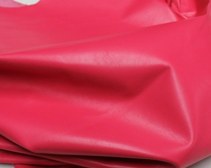 Italian lambskin leather 12 skins hides FLASHY HOT PINK 80-90sqf