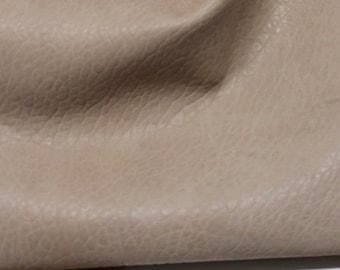 BEIGE NATURAL GRAINY vegetable tan soft Italian genuine Lambskin Lamb Sheep leather skin hide skins hides 6sqf 1.7mm #A2140