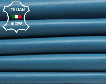 LIGHT TEAL BLUE Turquoise Italian smooth genuine Lambskin Lamb Sheep leather skin hide hides skins 5-8sqf 0.7mm #Brt-B3