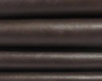 BROWN soft   Calf Calfskin Italian genuine leather skin skins hide hides SOFT 5sqf #A2877