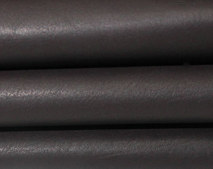 NATURAL DARK BROWN  Calf Calfskin italian genuine leather skin skins hide hides 8sqf #A2904