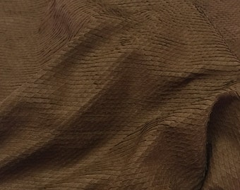Italian soft Lambskin leather skins hides Natural BROWN SNAKE TEXTURE 5sqf