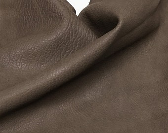 WASHED GRAINY BROWN Italian Lambskin Lamb Sheep vegetable tan tanned leather skin skins hide hides 4+sqf