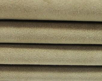 BEIGE SUEDE Calf Calfskin Italian genuine leather skin skins hide hides 9sqf #A2858