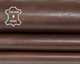 BROWN ANTIQUED rustic look vegetable tan soft Italian lambskin lamb sheep leather hides hide skin skins 7sqf 0.9mm #A8300