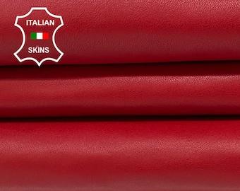 RED Italian goatskin goat leather skin skins hide hides 5sqf 0.9mm #A8416