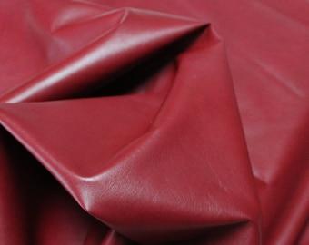 Italian lambskin leather 12 skins hides RED WINE 80-90sqf