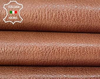 BROWN SHINY RUSTIC antiqued vegetable tan Italian goatskin goat leather skin skins hide hides 9sqf 1.3mm #A8455
