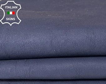 WASHED DARK BLUE coated Italian lambskin sheep leather skin skins hide hides 5sqf 1.2mm #A7989