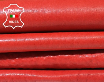 WASHED RED natural grainy Vegetable tan Italian genuine Lambskin Lamb Sheep leather skins hides 0.5mm to 1.2mm