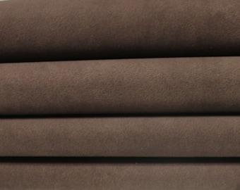 NABUCK BROWN vintage stonewash look soft Italian Lambskin Lamb Sheep Leather skin skins hide hides 7-8sqf 0.8mm
