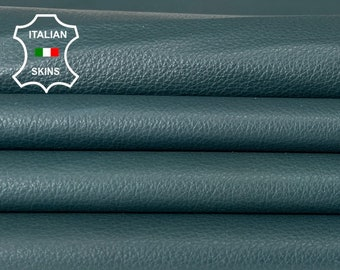TEAL GREEN soft Italian lambskin lamb sheep leather skin skins hide hides 5sqf 0.5mm #A8313