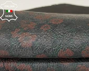 PATENT BLACK PRINTED coated crinkle Italian lambskin lamb sheep leather skin skins hide hides 7sqf 0.8mm#A8352