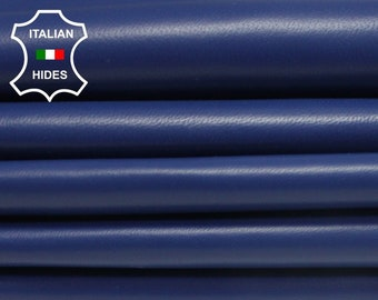 SARGASSO SEA BLUE smooth soft Italian lambskin Lamb Sheep leather skin hide skins hides 5-9sqf 0.7mm #Brbl2-B3
