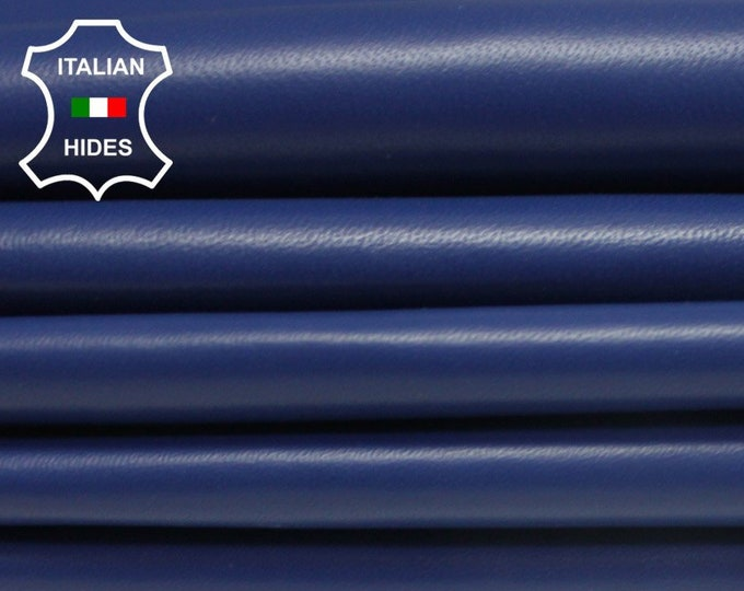 SARGASSO SEA BLUE smooth soft Italian lambskin Lamb Sheep leather skin hide skins hides 5-9sqf 0.7mm #Brbl2-B3
