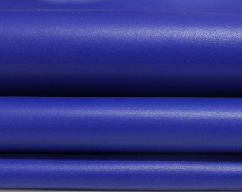 ROYAL BLUE smooth Italian genuine Lambskin Lamb Sheep leather skins hides 0.5mm to 1.2mm
