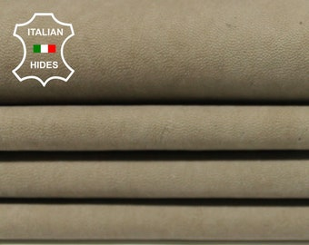 KHAKI BROWN naked vintage look rough Italian Goatskin Goat leather 3 skins hides total 16sqf 1.0mm #A4916