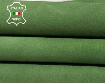 NATURAL GREEN NUBUCK soft Italian calfskin calf cow leather skin skins hide hides 5sqf 0.7mm #A8378