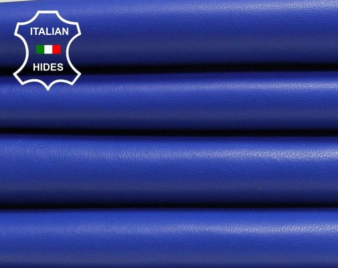 NEBULAS BLUE smooth soft Italian lambskin Lamb Sheep leather skin hide skins hides 5-9sqf 0.7mm #BRBL-B2