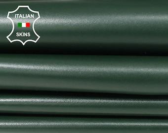 FOREST GREEN dark green Italian genuine Lambskin Lamb Sheep leather skins hides 0.5mm to 1.2mm