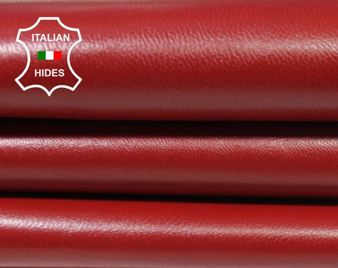 TANGO RED Italian Goatskin Goat leather material for sewing skin hide skins hides 6sqf 0.8mm #A4902