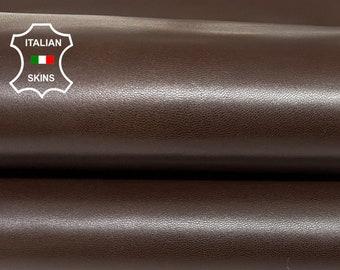 CHESTNUT BROWN strong Italian goatskin goat leather skin skins hide hides 6+sqf 1.0mm #A8417