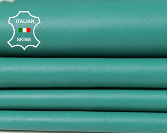 SEA GREEN Italian genuine Lambskin Lamb Sheep leather skins hides 0.5mm to 1.2mm