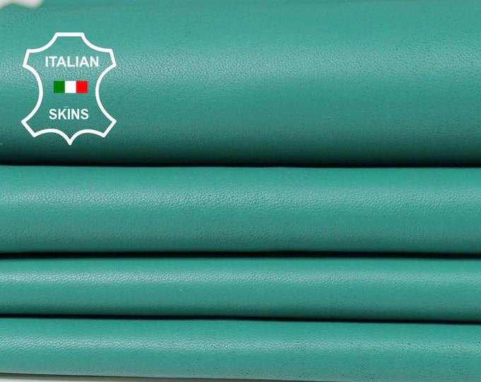 SEA GREEN Italian genuine Lambskin Lamb Sheep leather skins hides 0.5mm to 1.2mm
